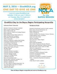 2016 Give Nola Flyer 2 list nonprofits